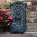 Sunnydaze Rosette Solar Wall Fountain - Thumbnail 4