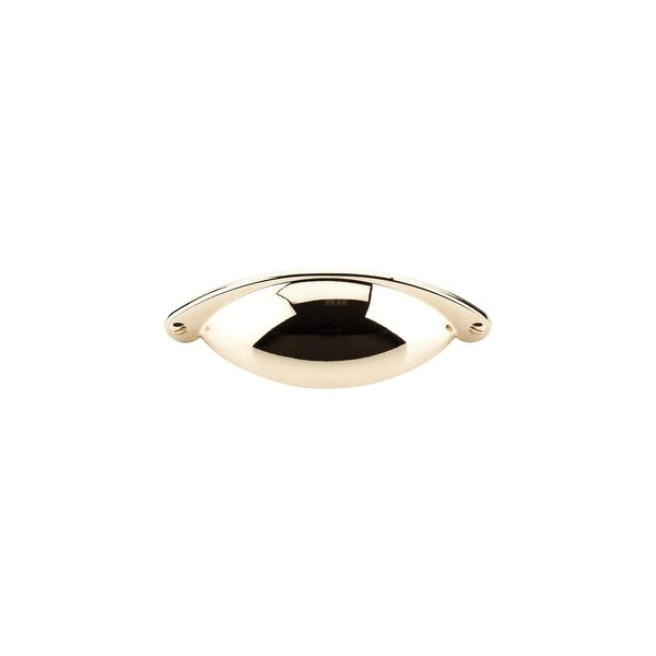 """Top Knobs M398 Somerset 2-1/2"""" Center to Center Cup Cabinet Pull - Polished brass - n/a"""