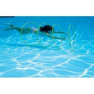 Water Sports Underwater Slalom Hoops Course Swimming Pool Kids Game