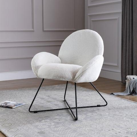 Corvus Rowen Modern Fleece Upholstered Accent Chair with Arm