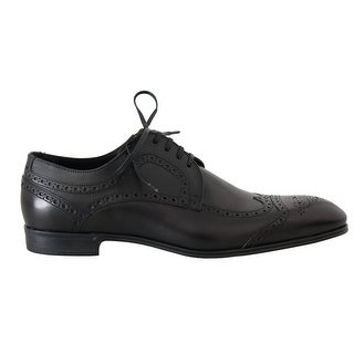 Dolce & Gabbana Dolce & Gabbana Black Leather Dress Oxford Wingtip Shoes