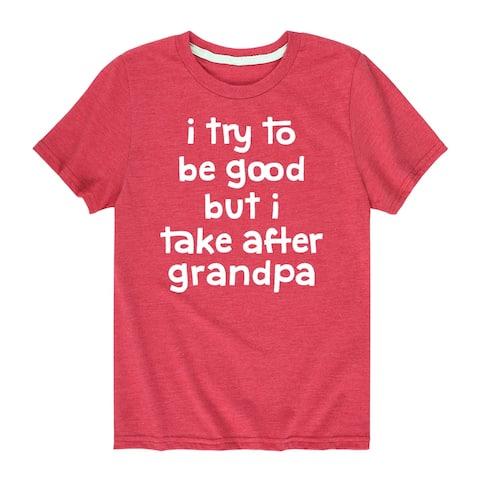 I Try to Be Good Grandpa - Boys Short Sleeve T-Shirt