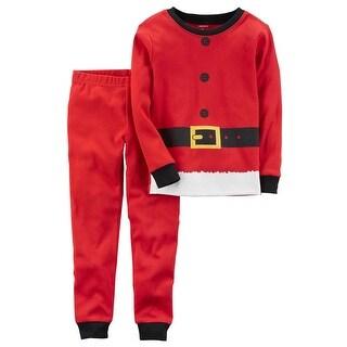 Carter's Baby Boys' 2-Piece Santa Snug Fit Cotton PJs, 18 Months - Print