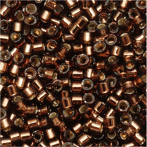 Miyuki Delica Seed Beads 11/0 Silver Lined Brown DB150 7.2 GR