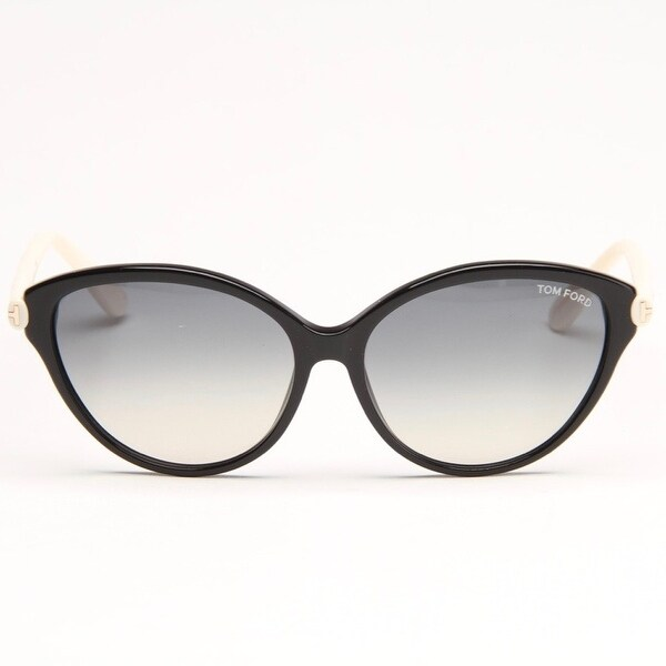 532e63959012d Priscilla Black And Cream Sunglasses With Grey Gradient Lens - black and  cream