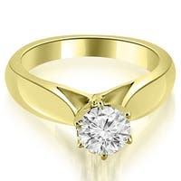 1.00 cttw. 14K Yellow Gold Cathedral Solitaire Diamond Engagement Ring