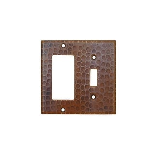Premier Copper Products SCRT Copper Combination Switch Plate, 1 Single Hole Togg