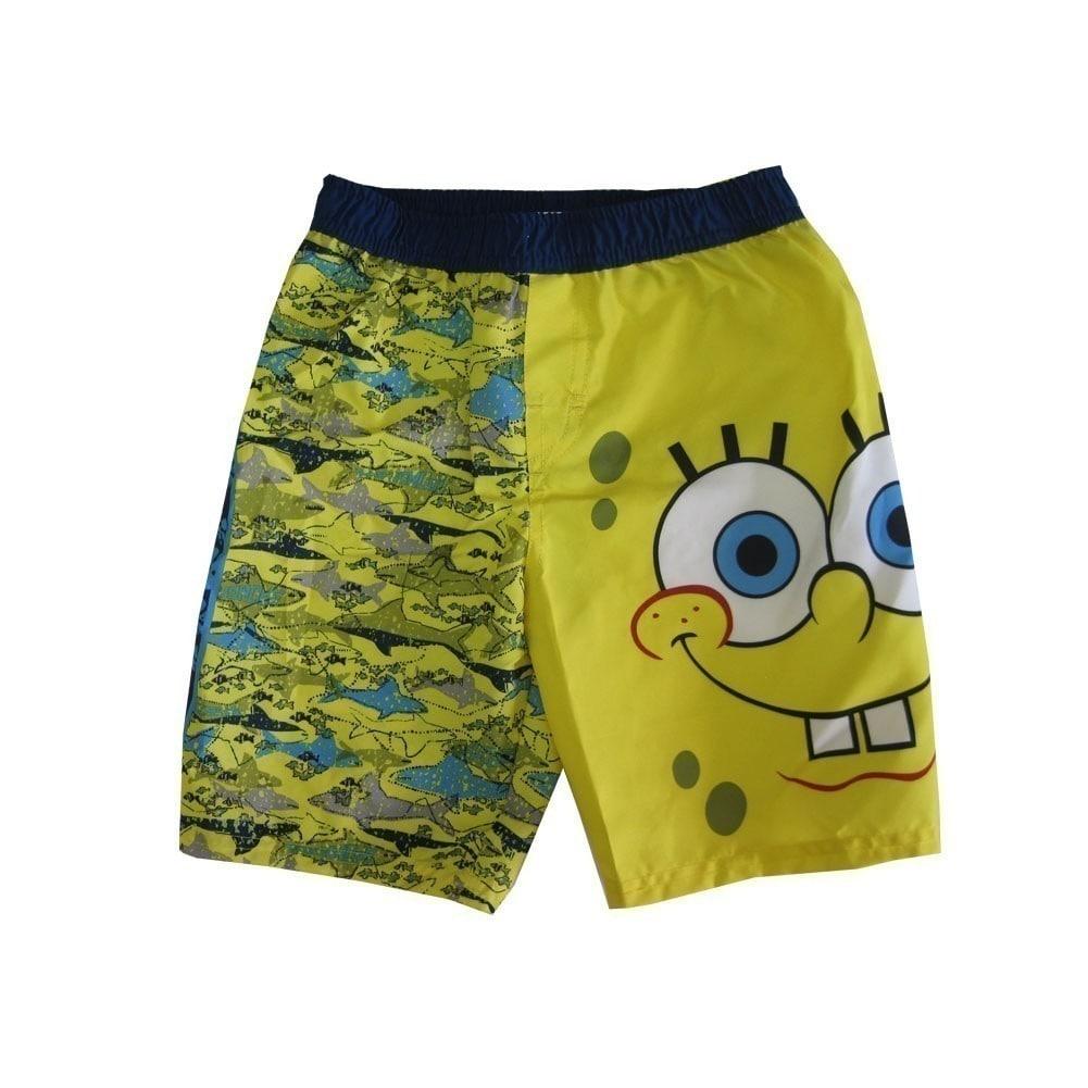 22c1b449a7b60 Shop Nickelodeon Little Boys Yellow Blue SpongeBob SquarePants Swim Shorts  - Free Shipping On Orders Over $45 - Overstock - 18173673
