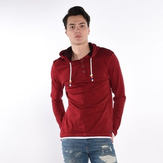 Slub Jersey Hoodie In Red