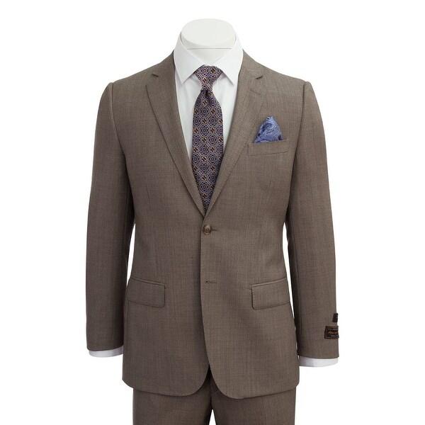 Novello Suit - Tan Birdseye, Modern Fit