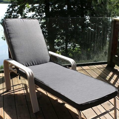Sunnydaze Outdoor Patio Chaise Lounge Cushion - 72- x 21-Inch