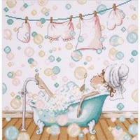 "12""X12"" 14 Count - Blowing Bubbles Counted Cross Stitch Kit"