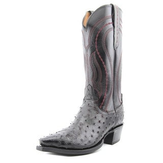 Lucchese M1609 Men Square Toe Leather Black Western Boot
