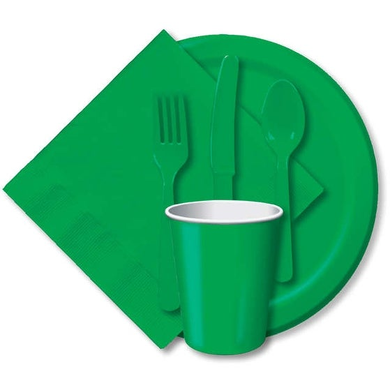 "Luncheon Plates 7"" 24/Pkg-Emerald Green"