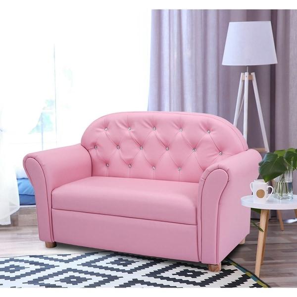 Shop Costway Kids Sofa Princess Armrest Chair Lounge Couch ...
