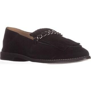Franco Sarto Augustine Fringe Loafers, Black