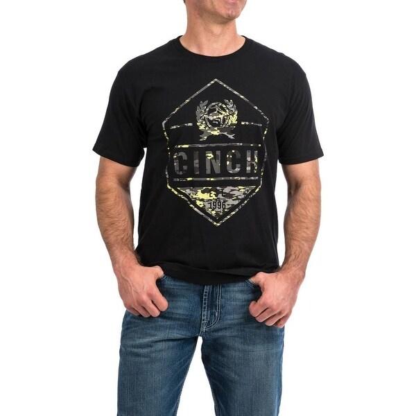 Cinch Men/'s Black S//S Jersey T-Shirt MTT1690332