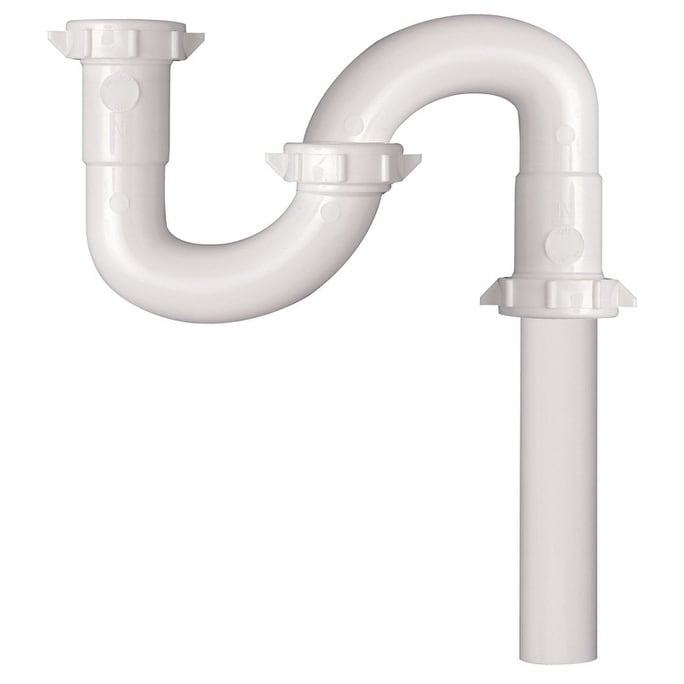 Keeney 700W S-Trap with Marvel Connection, Plastic, White