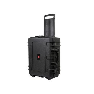 "Monoprice Weatherproof Hard Case with Wheels and Customizable Foam, 25"" x 19"" x 11"""