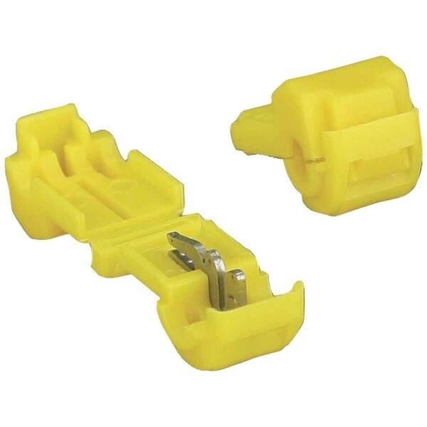 Install Bay 3Mytt 3M(Tm) T-Taps, 100 Pk (Yellow, 12-10 Gauge)