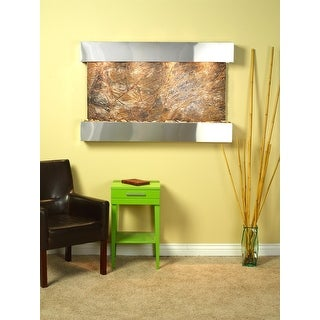 Adagio Sunrise Springs With Brown Rainforest Marble in Stainless Steel Finish an