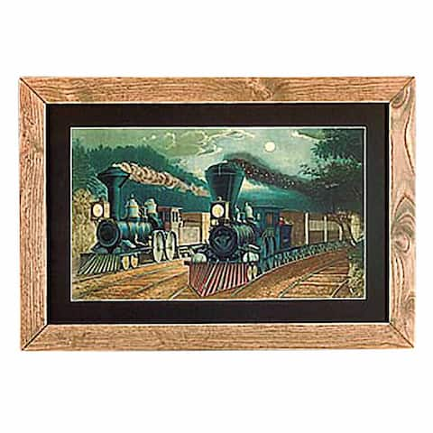 Framed Print Train Wood Frame 15 x 21.75