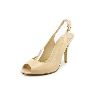 Enzo Angiolini Mykell Peep-Toe Patent Leather Slingback Heel