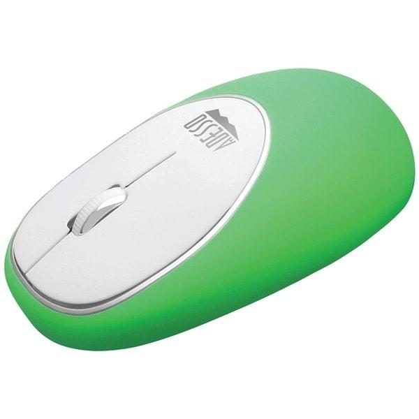 Adesso Imouse E60G Imouse(Tm) E60 Wireless Antistress Gel Mouse (Green)