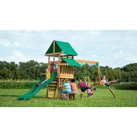 Backyard Discovery Belmont All Cedar Wooden Swing Set