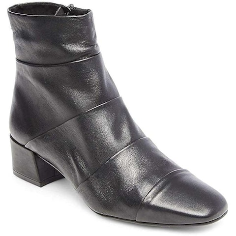 Steve Madden Womens Galana Leather Square Toe Ankle Chelsea Boots