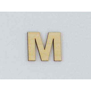 1 Pc, 10 Inch X 1/8 Inch Thick Wood Letters M In The Arial Font For Craft Project & Different Decor