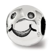Sterling Silver Reflections Smiley Face Bead (4.5mm Diameter Hole)