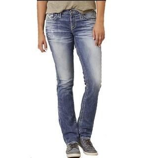 Big Star Women's Vintage Maddie Straight Faded Jeans 24 Regular