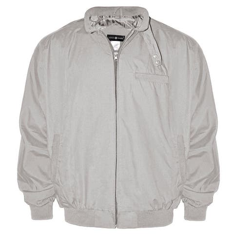 Victory Outfitters Men's Lightweight Band Collar Chintz Zip Up Jacket