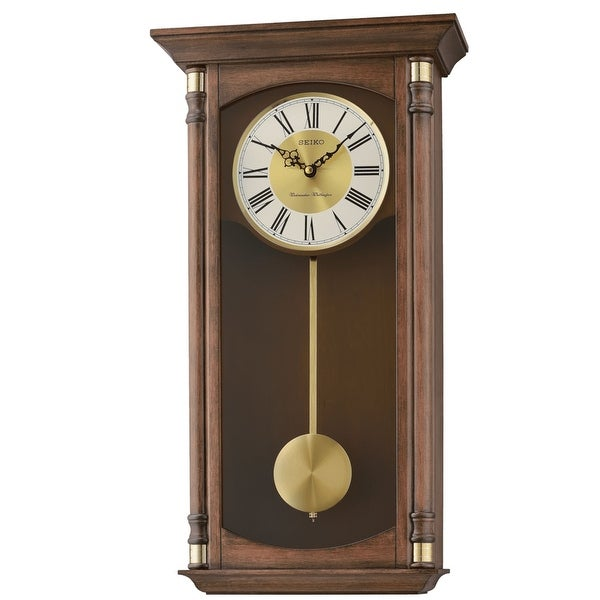 Seiko Traditional Elegance Wall Clock with Pendulum and Chime. Opens flyout.