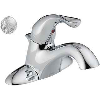 "Delta 521-PPU-ECO-DST Single Handle Lavatory Faucet, 4"", Chrome"