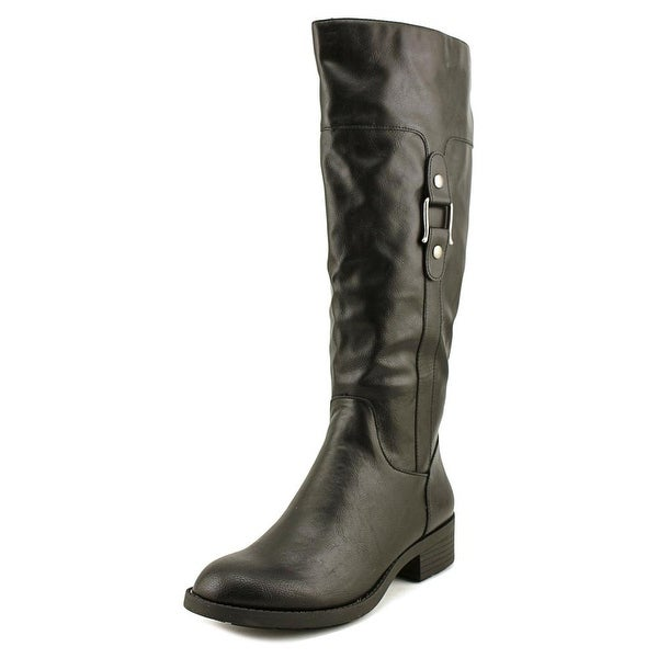 Style & Co Astarie Round Toe Leather Knee High Boot