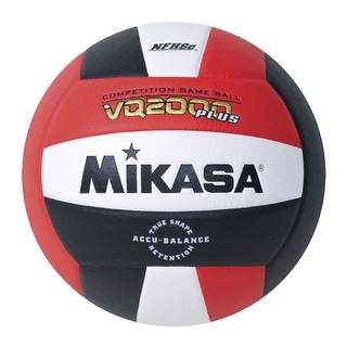Mikasa Volleyball NFHS Approved, Size 5, Red/White/Black