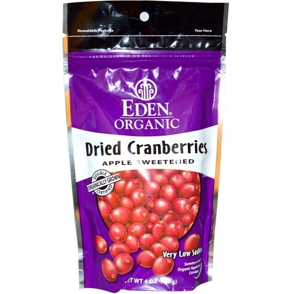 Eden Foods Organic Dried Cranberries Sweetened with Apple Juice, 4 Oz (Pack of 15)