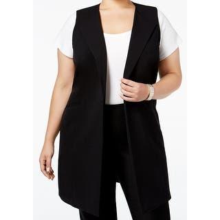 Nine West NEW Black Women's Size 18W Plus Vest Solid Seamed Jacket|https://ak1.ostkcdn.com/images/products/is/images/direct/c7462f1e53f7e573288dd5b3234843771d6eba88/Nine-West-NEW-Black-Women%27s-Size-18W-Plus-Vest-Solid-Seamed-Jacket.jpg?impolicy=medium