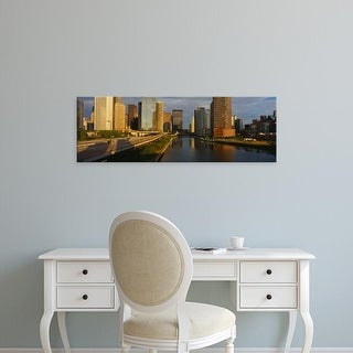 Easy Art Prints Panoramic Images's 'Chicago River from Lake Shore Drive, Illinois' Premium Canvas Art