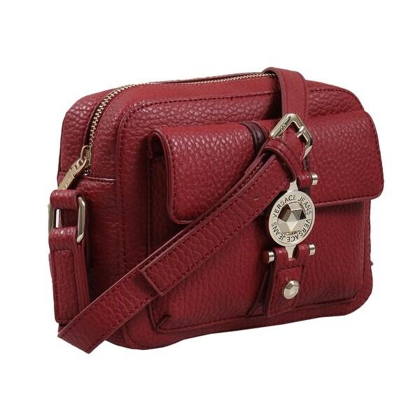 3b253cad7665 Shop Versace EE1VSBBF1 E331 Red Shoulder Bag - 8-6.25-2.75 - Free ...