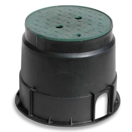 "NDS 1010VB Round Valve Box Overlapping Cover, 10"", Black/Green"