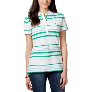 Tommy Hilfiger Womens Polo Top Pique Striped