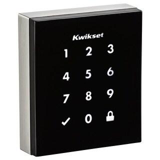 Kwikset 954OBN Obsidian Touchscreen Electronic Deadbolt with Z-Wave Technology - satin nickel - N/A