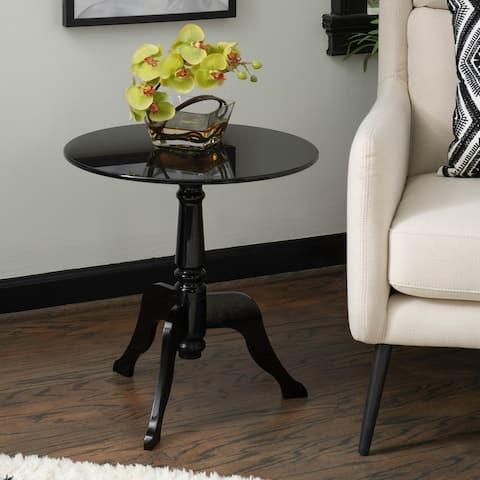 Sarah Black Acrylic End Table