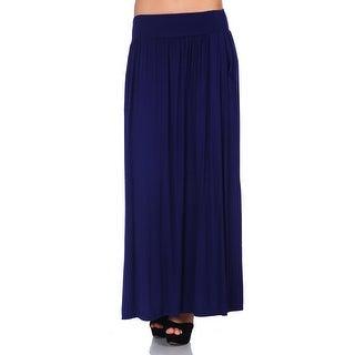 Simply Ravishing Women's Maxi Long Flare Skirt (Size: S-5X)