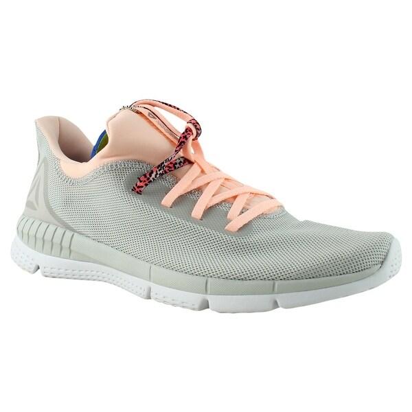 2eefd27f68d8ff Reebok Womens Bs8542 Gr-SkullGrey PeachTwist White Running Shoes Size 10
