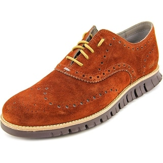 Cole Haan Zerogrand Wing Ox Men Round Toe Suede Brown Oxford