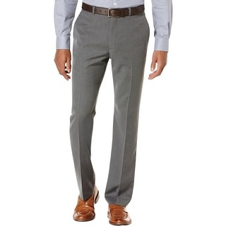 Perry Ellis Mens Travel Luxe Dress Pants Modern Fit Shadow Stripe